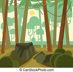 Jungle green forest
