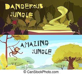 Jungle Horizontal Cartoon Banners