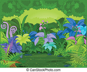 Jungle Landscape - Jungle landscape with different plants...