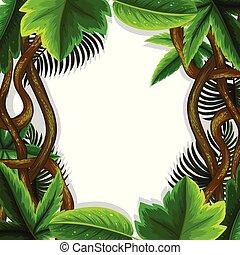 jungle leaves frame concept