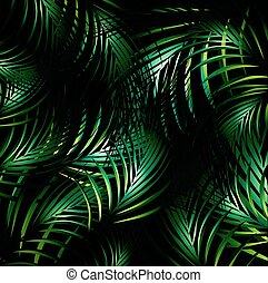 Jungle Night Background - Illustration of Abstract Jungle...