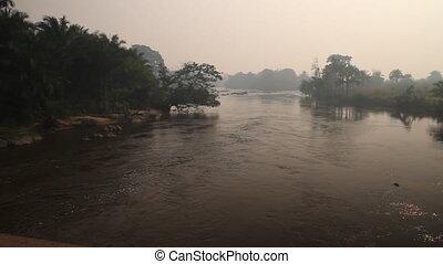 jungle river with haze