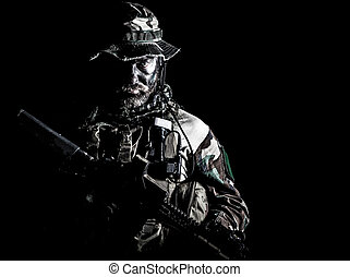Jungle warfare unit - Bearded Special forces United States ...
