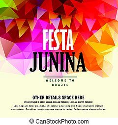 junina, festa, kleurrijke, straatfeest, juni, achtergrond, ...