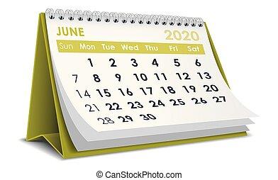 junio, 2020, calendario