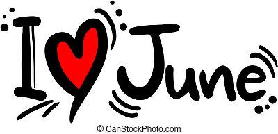 junio, amor