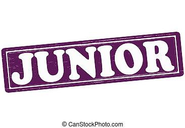 Junior - Stamp with word junior inside, vector ilustration