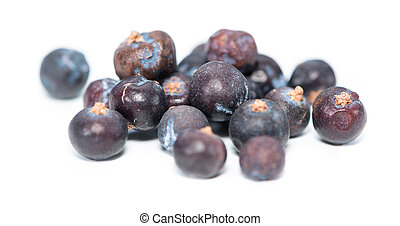 Juniper Berries over white - Small portion of Juniper...