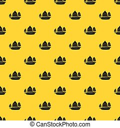 Junk boat pattern vector