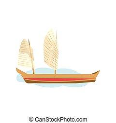 Junk boat vector