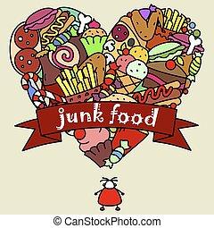 Junk food and a fat man