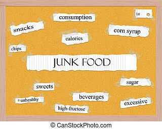 Junk Food Corkboard Word Concept
