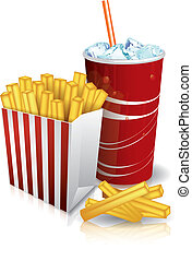 Junk food - french fries and soda