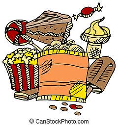 Junk Food Snacks - An image of junk food snacks.