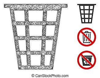 Junk Polygonal Web Vector Mesh Illustration