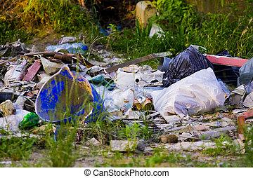 Junk Yard - Lots of abandoned garbage in a junk yard