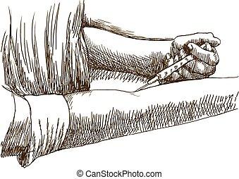 An hand drawn illustrations - (marker technique) - Junkies