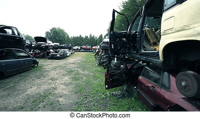 junkyard for recycling car parts