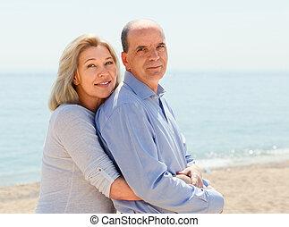 junto, amantes, tempo, gastando, envelhecido, dois