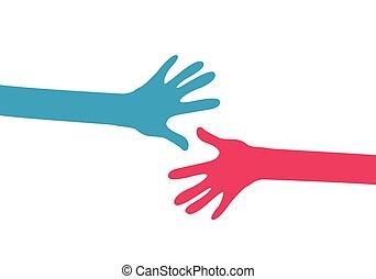 juntos, manos