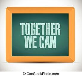 juntos, nosotros, lata, mensaje, problema