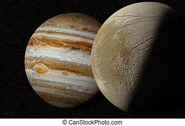 Jupiter and moon