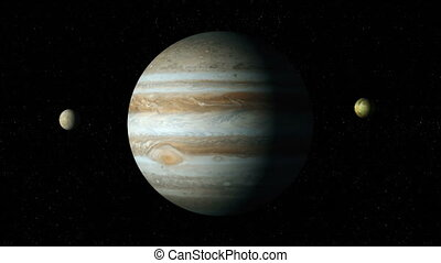 jupiter and moons - Jupiter and four biggest moons: Io,...
