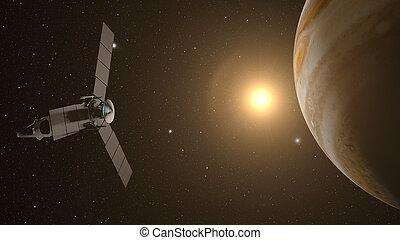 jupiter and satellite juno