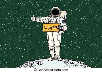 jupiter, astronaute, promenades, nœud