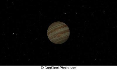 Jupiter Flyby. CG. hd - Jupiter flyby animation.