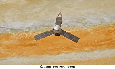 """Computer generated, Jupiter mission, Juno spacecraft."""