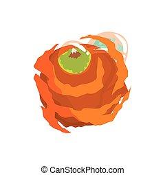 Jupiter planet of the Solar System cartoon vector Illustration