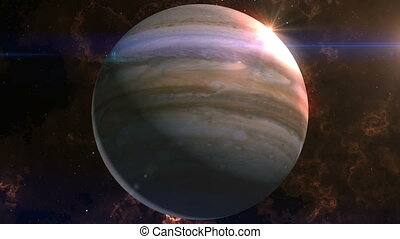 Jupiter Reveal in Space - This epic clip of a planet is part...