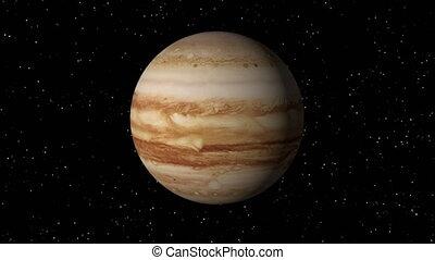 Jupiter Rotating Seamless Loop - 3D animation of planet...