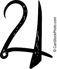 Jupiter symbol, illustration, vector on white background.