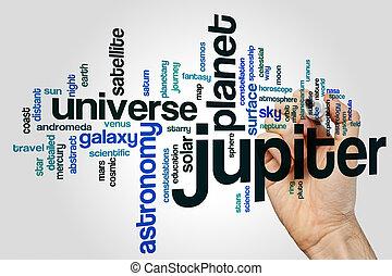 Jupiter word cloud concept