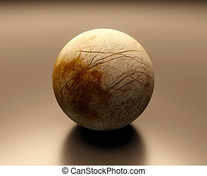 Jupitermoon Europa blank - A rendered Image of the Jupiter...