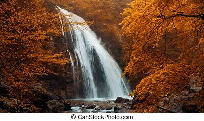 Jur-Jur waterfall in the autumn forest