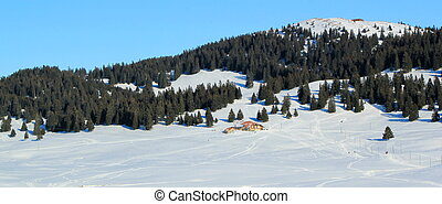 Jura mountain by winter, Switzerland