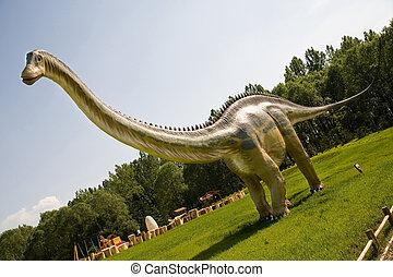 Jurassic park - set of dinosaurs - long body of Diplodocus longus