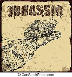 Jurassic retro poster
