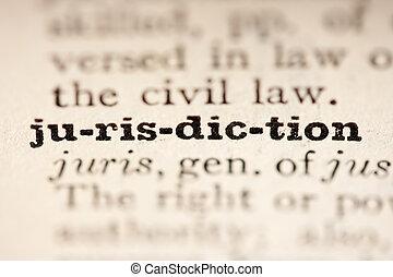 juridiction, mot