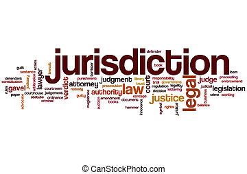 juridiction, mot, nuage
