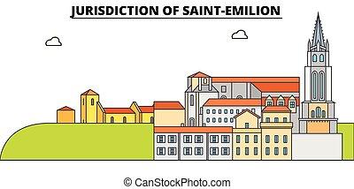 Jurisdiction Of Saint-Emilion line travel landmark, skyline,...