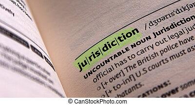 jurisdiction word in open book