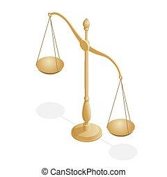 jurisprudence., 等大, 法律, スケール, 正義, シンボル, 法的, ボール, バランス, libra...