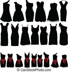 jurken, voor, partijen