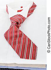 jurkje, clothing., tie., hemd, zakelijk