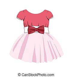 jurkje, modieus, girls., color., skirt., background.., suit...