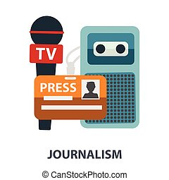 Jurnalism television radio press conference concept